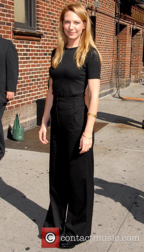 Anna Torv and David Letterman 2