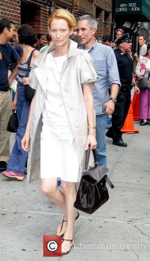 Tilda Swinton and David Letterman 2
