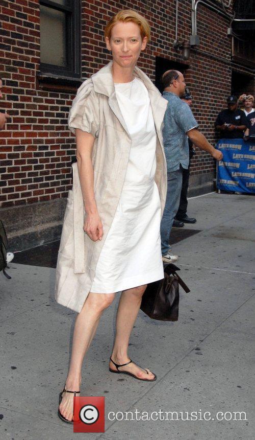 Tilda Swinton and David Letterman 1
