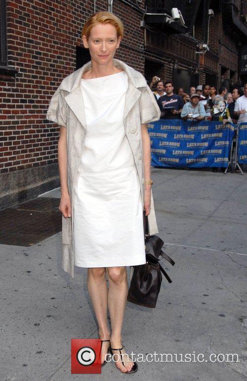 Tilda Swinton and David Letterman 3