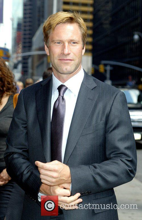 Aaron Eckhart and David Letterman 3