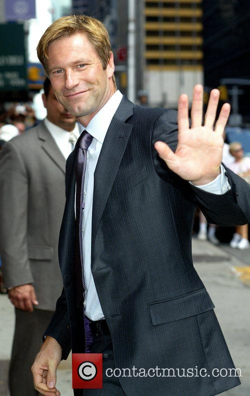 Aaron Eckhart and David Letterman 4