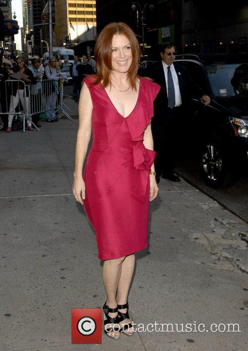 Julianne Moore and David Letterman 2