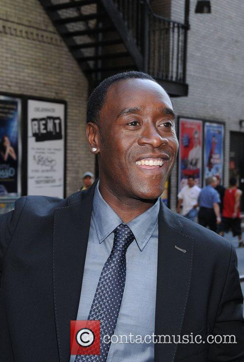 Don Cheadle outside the Ed Sullivan Theater for...