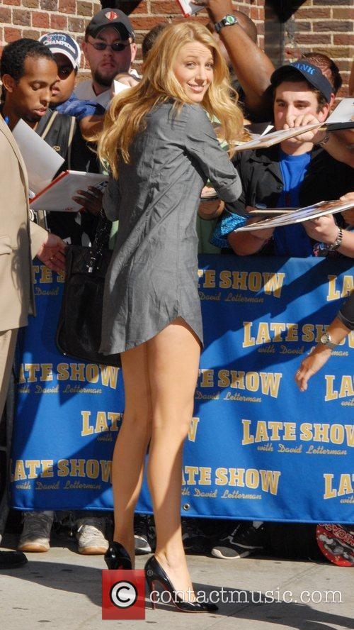 Blake Lively and David Letterman 12