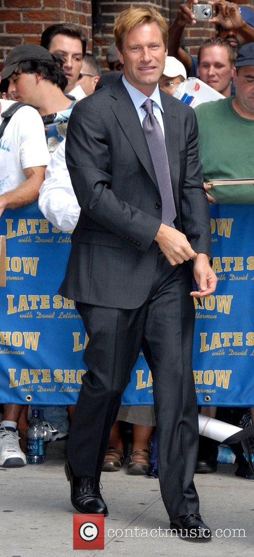 Aaron Eckhart and David Letterman 18
