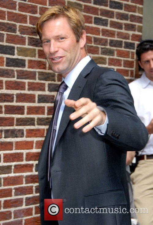 Aaron Eckhart and David Letterman 19