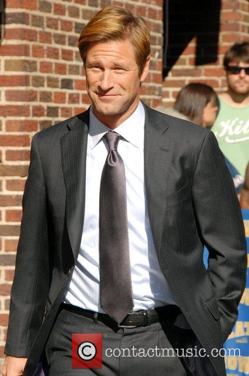 Aaron Eckhart and David Letterman 17