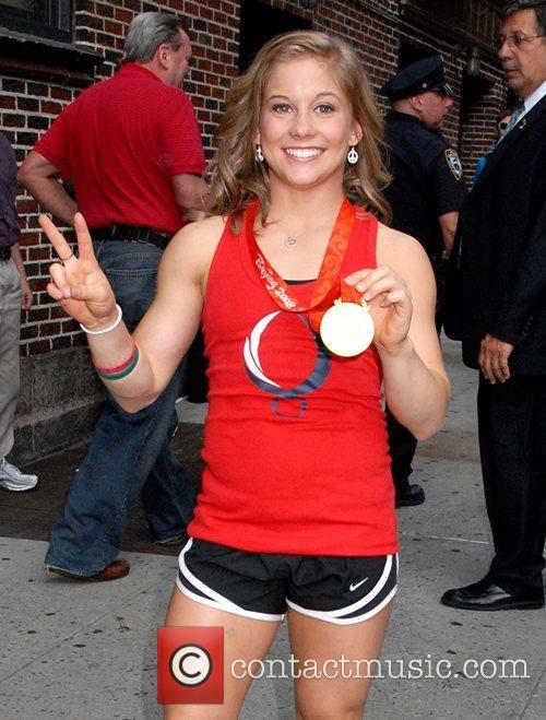 Shawn Johnson, Cbs and David Letterman 2