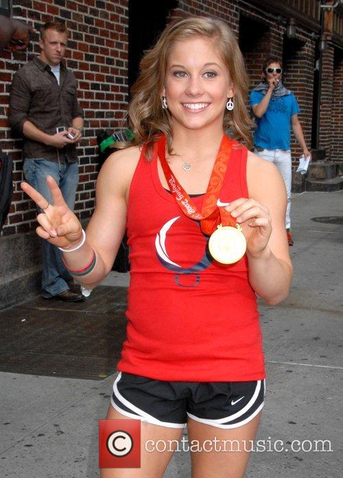 Shawn Johnson, Cbs and David Letterman 1