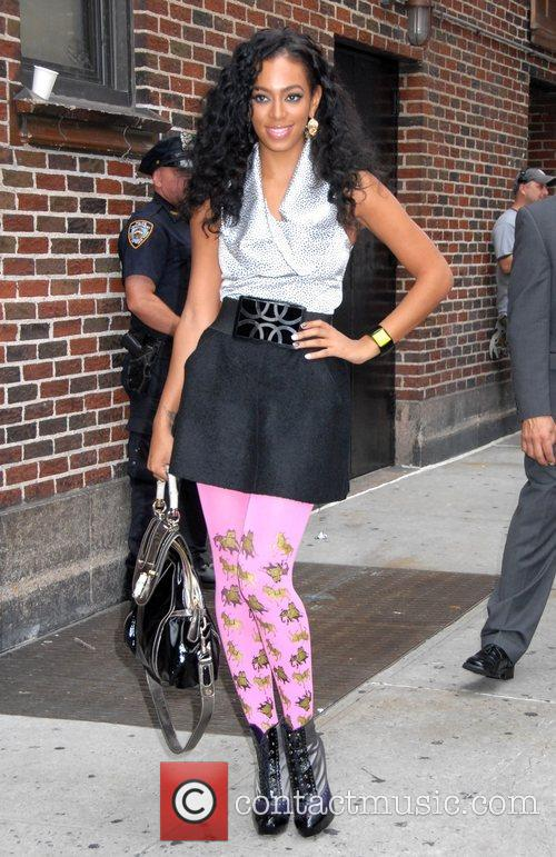 Solange Knowles, Cbs and David Letterman 9