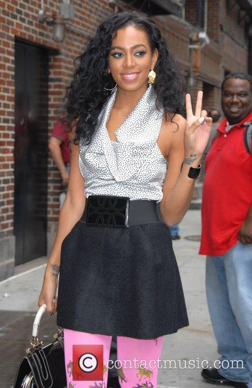 Solange Knowles, CBS and David Letterman 14