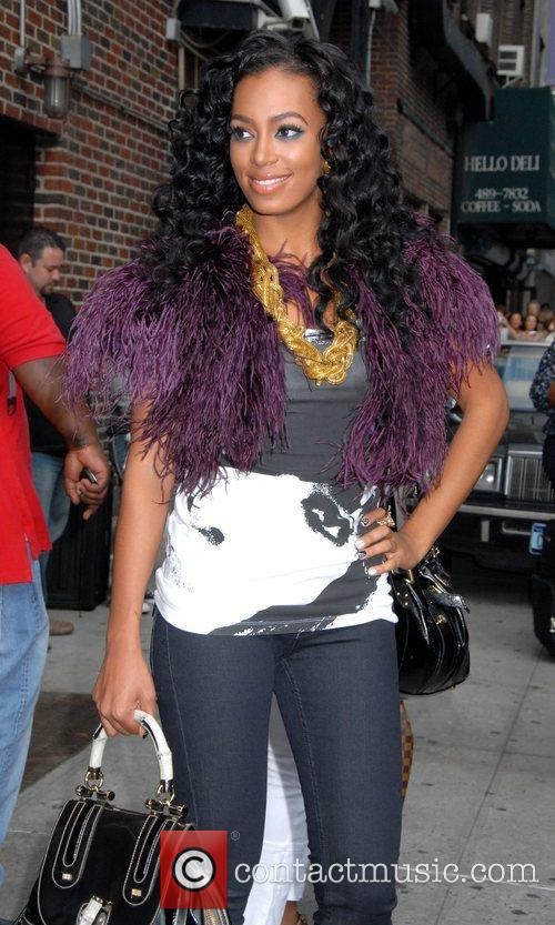 Solange Knowles, Cbs and David Letterman 8