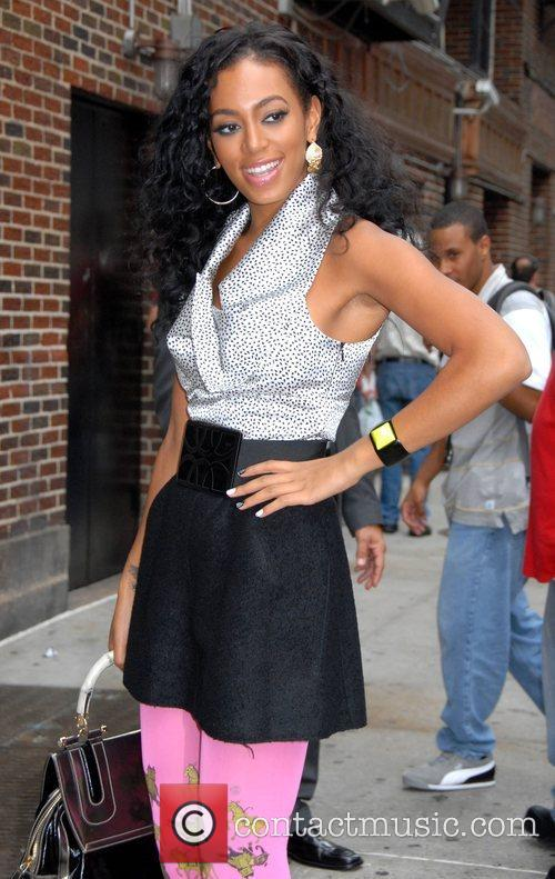 Solange Knowles, Cbs and David Letterman 6