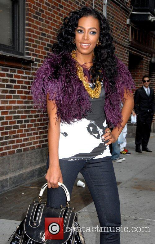 Solange Knowles, Cbs and David Letterman 2