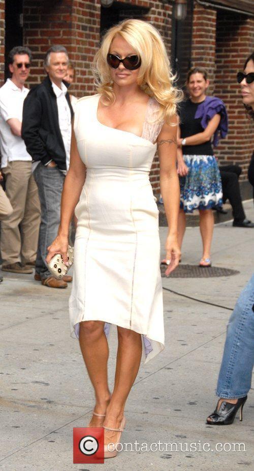 Pamela Anderson and David Letterman