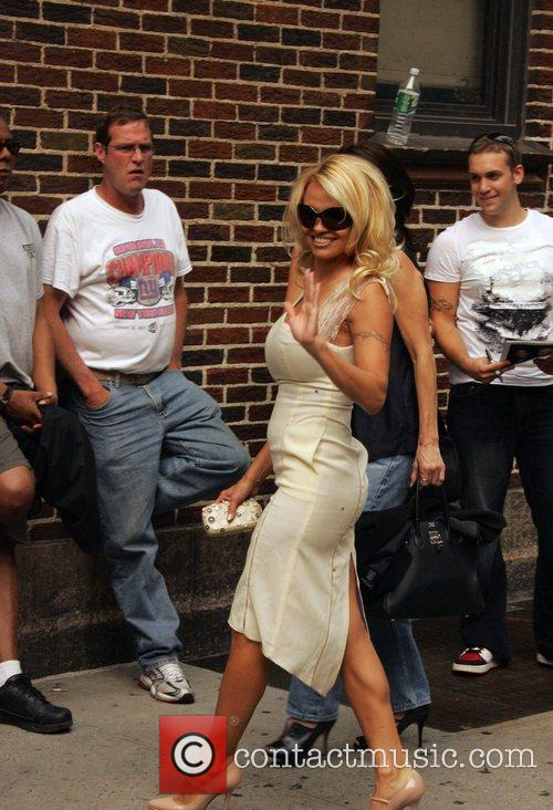 Pamela Anderson and David Letterman 2