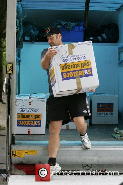 Lily Allen receives a delivery of her belongings...
