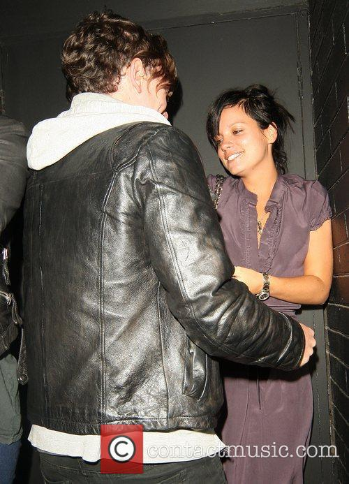 Lily Allen spends the night at the Groucho...