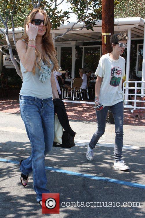Lindsay Lohan and Samantha Ronson go to Fred...