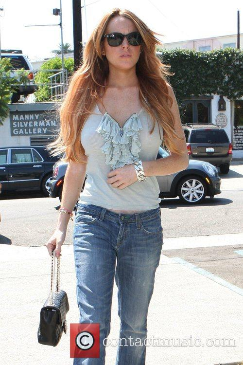 Lindsay Lohan goes to Fred Segal West Hollywood...