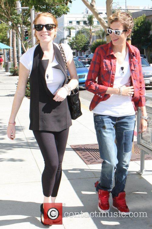 Lindsay Lohan and Samantha Ronson shopping in Malibu...