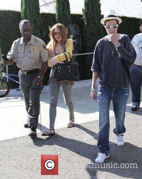 Lindsay Lohan and Samantha Ronson leave the Neil...