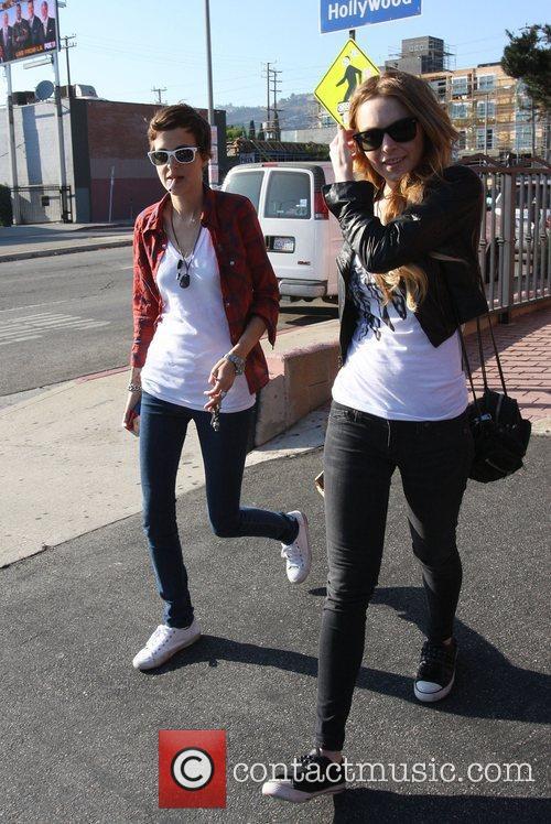 Lindsay Lohan and Samantha Ronson shopping at Fred...