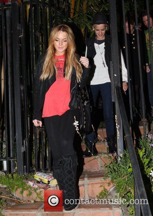 Lindsay Lohan and her girlfriend DJ Samantha Ronson...