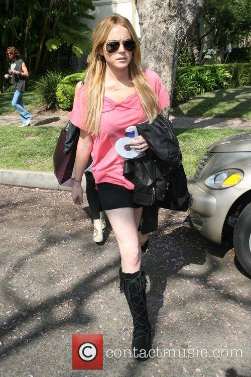 Lindsay Lohan  at a friends house in...