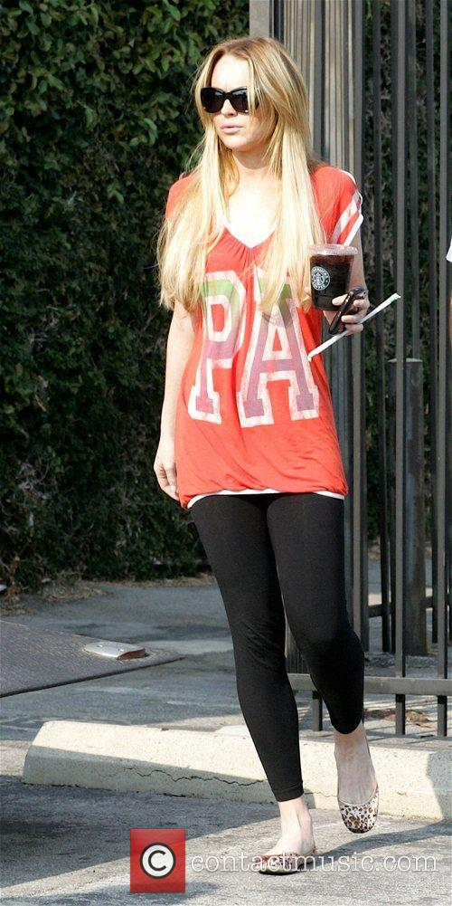 Lindsay Lohan  on the set of her...