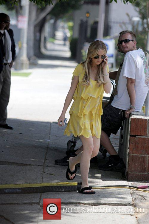 Lindsay Lohan  on the movie set for...