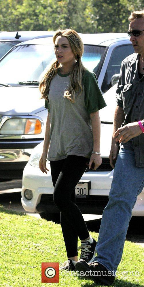 On the film set of her upcoming movie...