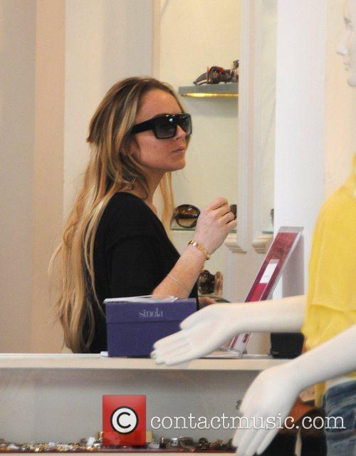 Lindsay Lohan shopping at Diabolina on Robertson Blvd...