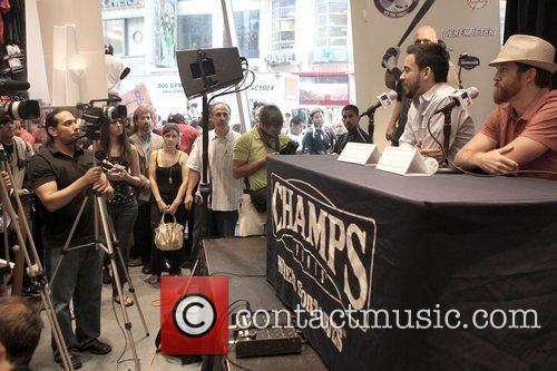 Mike Shinoda and David Farrell of Linkin Park...