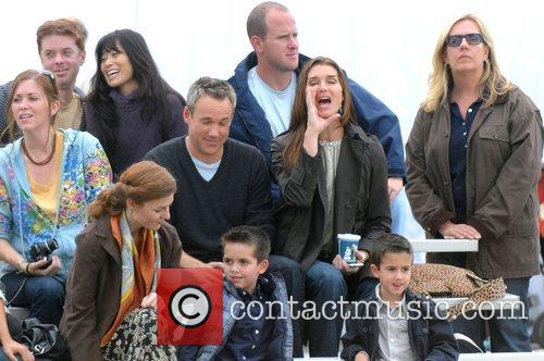 Brooke Shields films an episode of her TV...