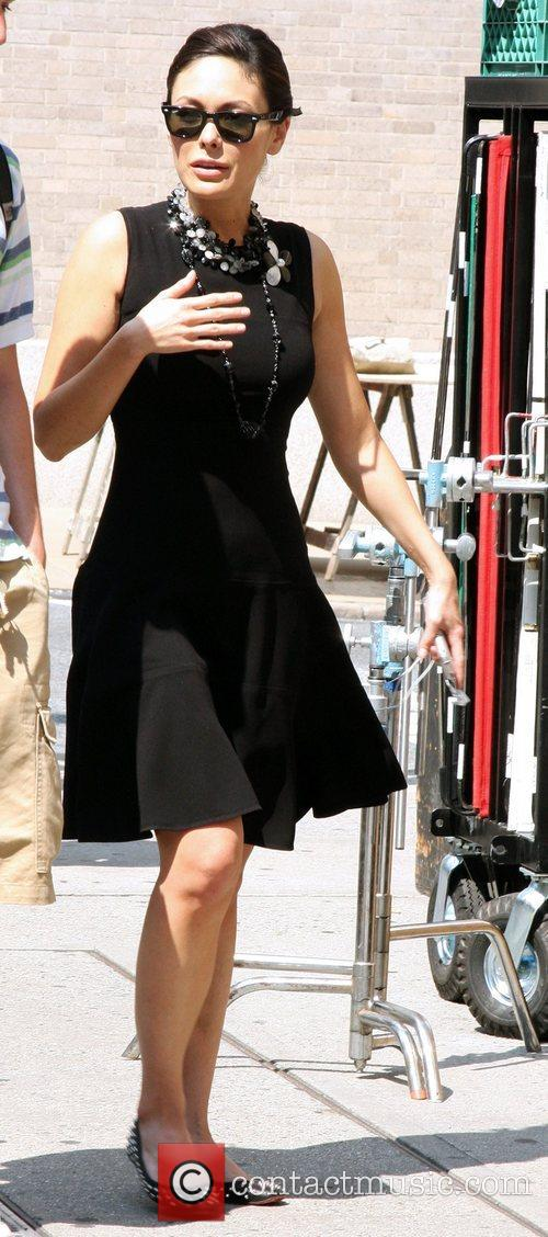 Lindsay Price on the set of her show...