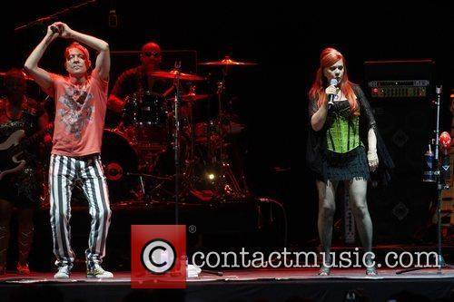 Fred Schneider and Kate Pierson from the B52's,...