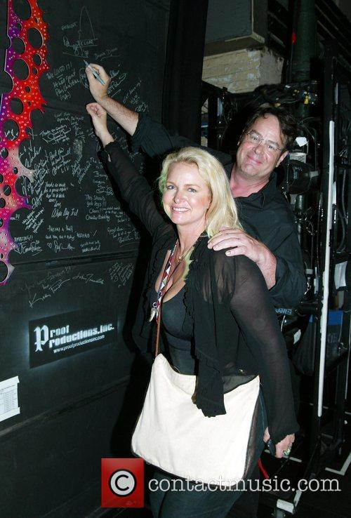 Donna Dixon and her husband Dan Aykroyd Backstage...