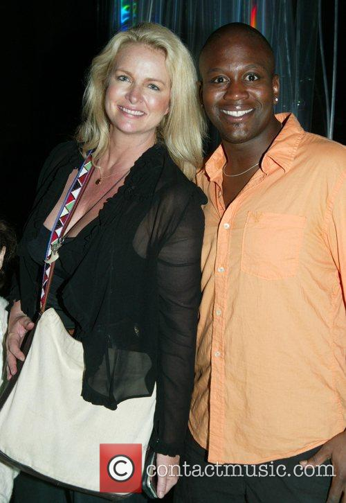 Donna Dixon and Titus Burgess Backstage at the...