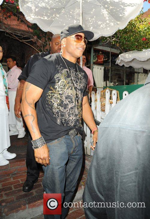 LL Cool J Leaving the Ivy restaurant Los...