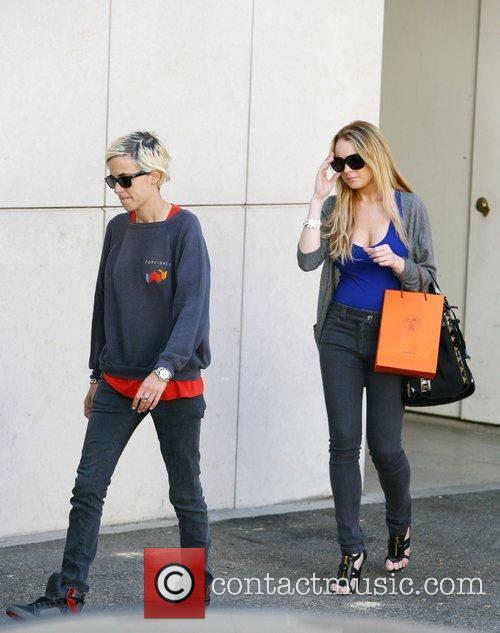 Samantha Ronson and Lindsay Lohan have lunch at...