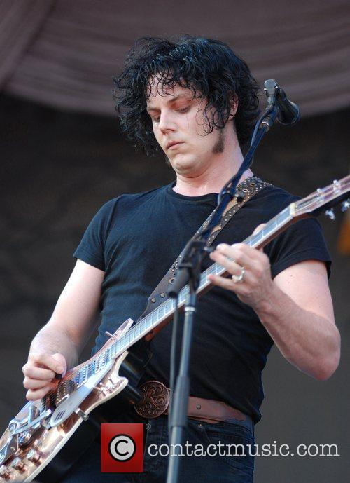 Jack White of The Raconteurs performing at the...
