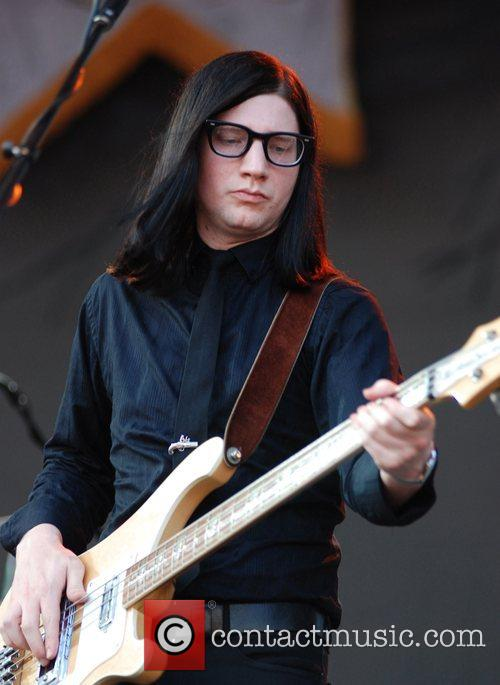 Jack Lawrence of The Raconteurs performing at the...