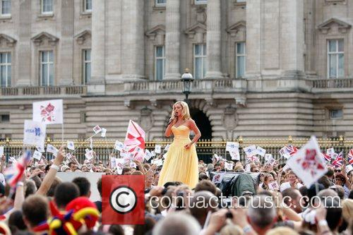 Katherine Jenkins performs Nessun Dorma The Olympic handover...
