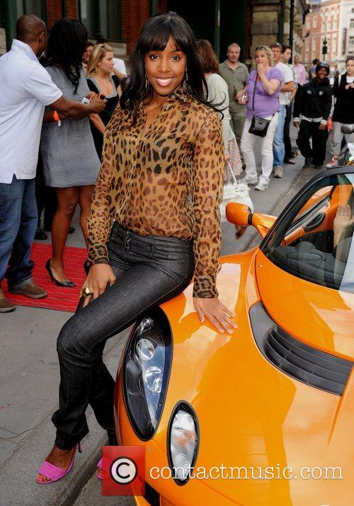 Kelly Rowland at the Lotus 'Project Eagle' celebrity...