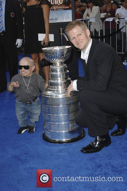 Verne Troyer and Chris Osgood Premiere of 'Love...