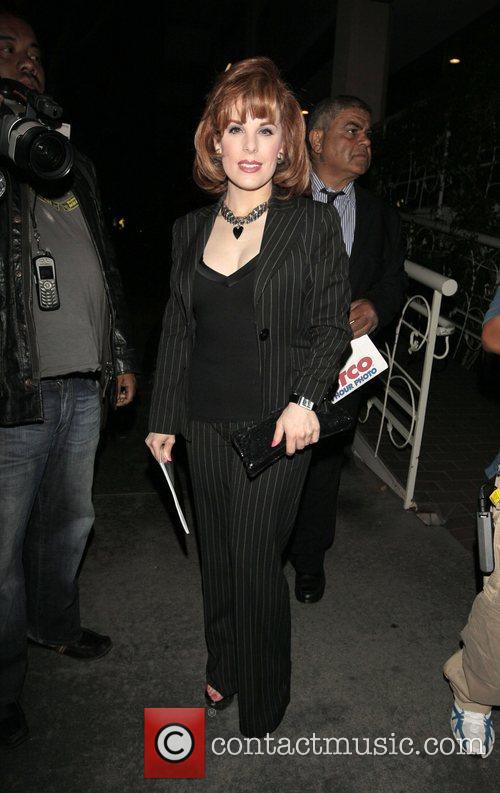 Katherine Kramer arriving at Madeo Restaurant West Hollywood,...
