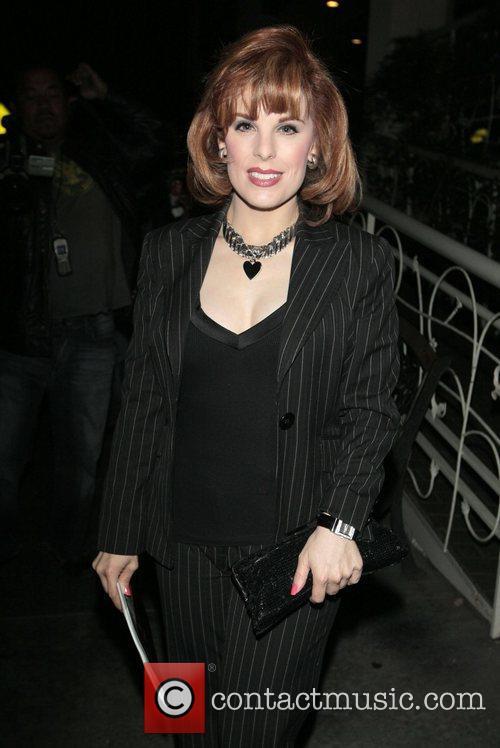 Katherine Kramer arriving at Madeo Restaurant Los Angeles,...