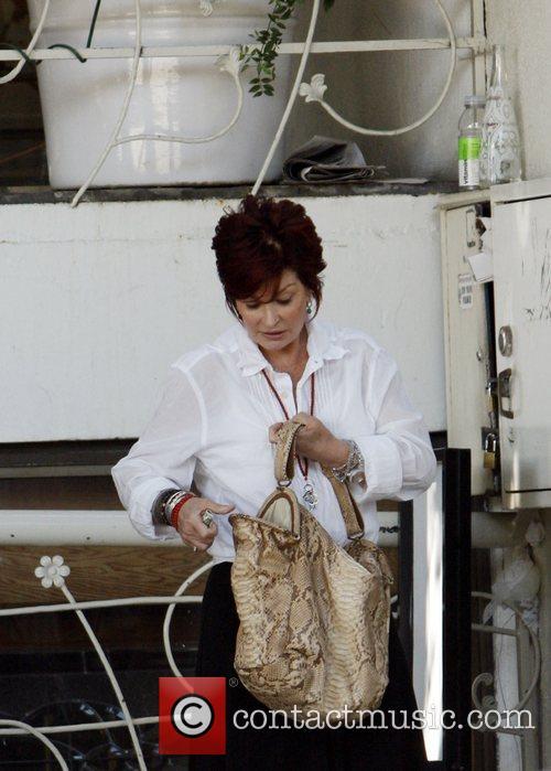 Sharon Osbourne leaving Madeo restaurant after having lunch...